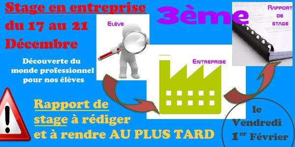 New Stage Observation Entreprise 3eme Rapport De Stage
